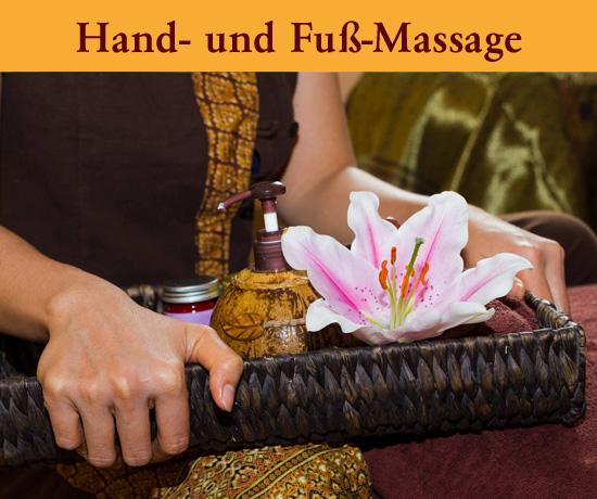 Hand- und Fuß-Massage